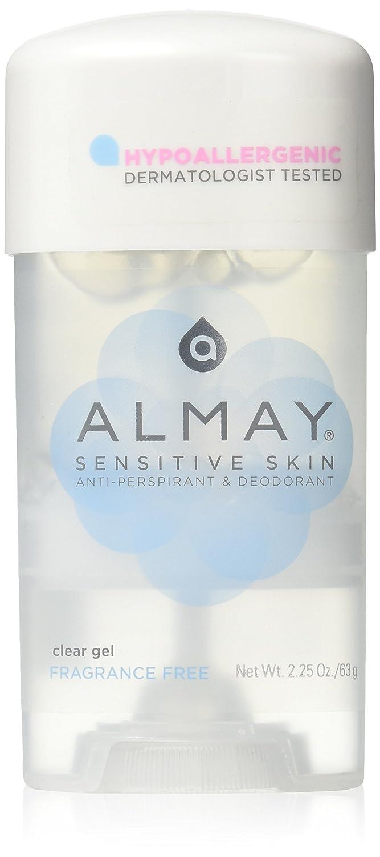 Almay Sensitive Skin Clear Gel, Anti-Perspirant & Deodorant, Fragrance Free, 2.25-Oz B0015S1DZW
