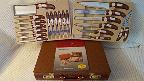 Royalty Line Switzerland 25 piezas juego de cuchillos con funda