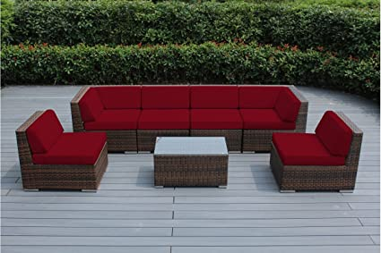 Amazon Com Genuine Ohana Outdoor Patio Sofa Sectional Wicker