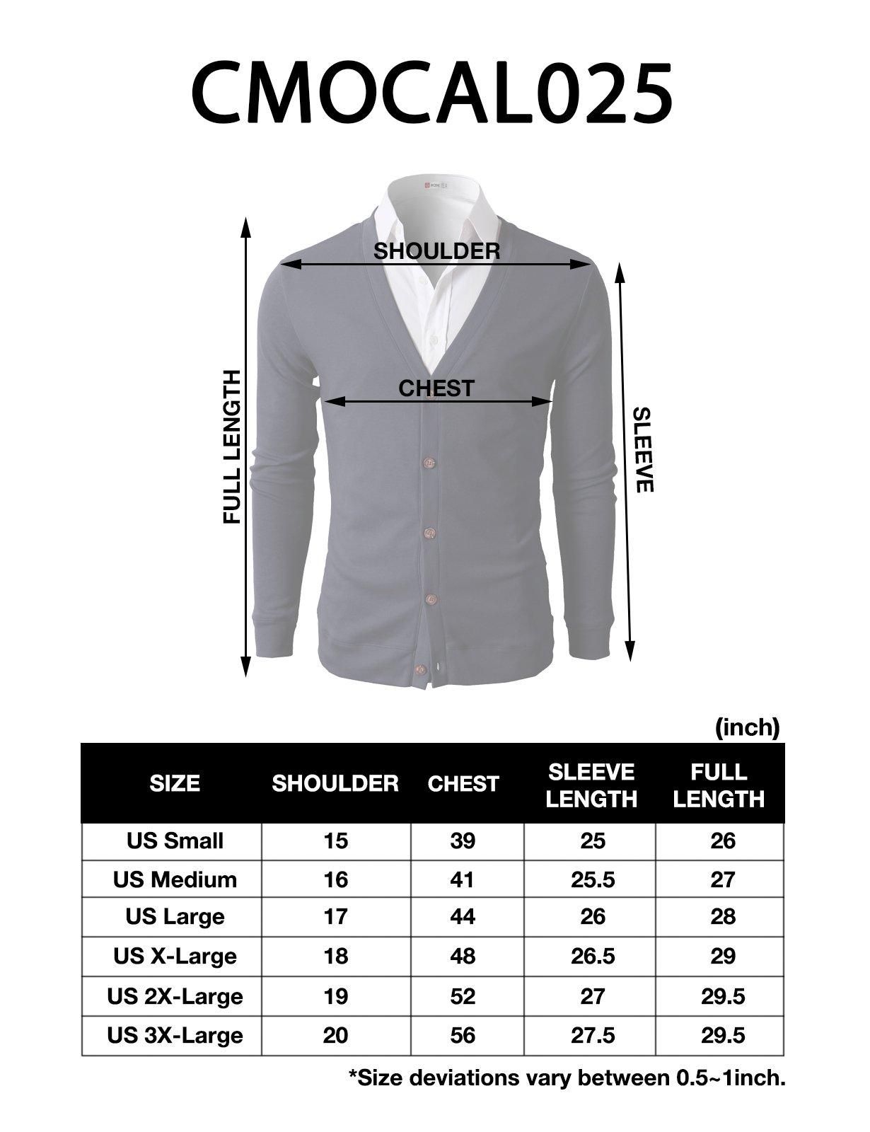 H2H Mens Slim Fit Light Weight V-Neck Cardigan Black US M/Asia L (CMOCAL025) by H2H (Image #6)