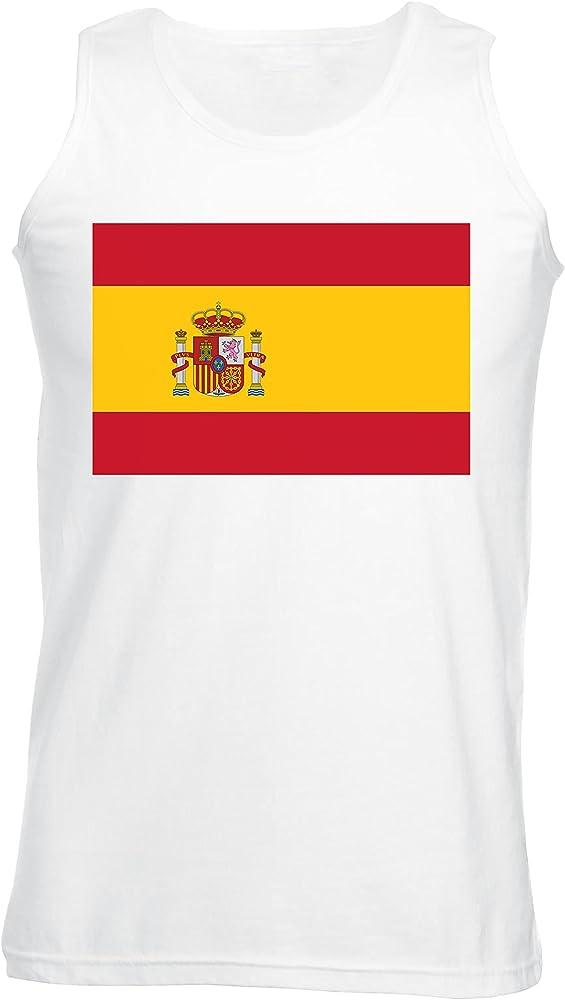 España Bandera Camiseta De Tirantes Para Mujer Blanco Todos Los Tamaños   Womens Tank T-Shirt Top: Amazon.es: Ropa y accesorios