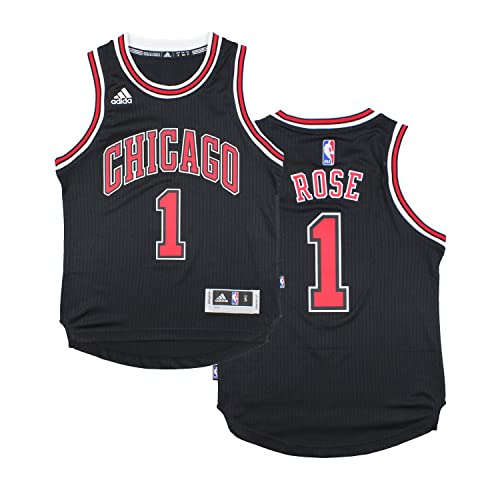 adidas Chicago Bulls Derrick Rose # 1 NBA Youth Big Boys Alternate Swingman Jersey - Black