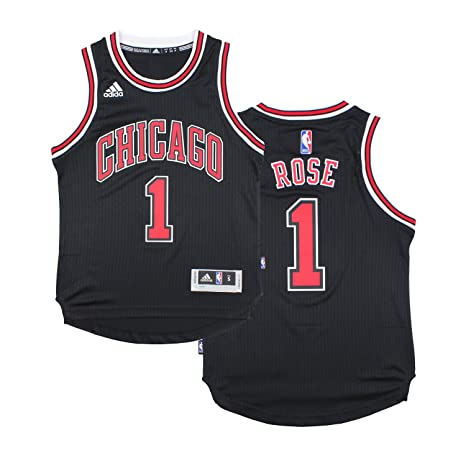 6e4168ec3cb Chicago Bulls Derrick Rose   1 NBA Youth Big Boys Alternate Swingman Jersey  - Black (
