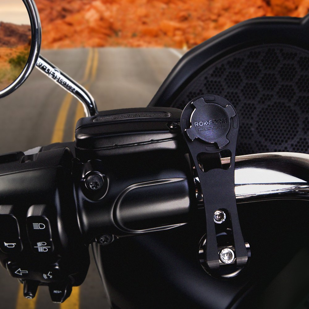 Rokform [Mount Only] Pro Series Motorcycle Mount CNC Machined Aluminum, Twist Lock and Magnetic Mounting (Polished) by Rokform (Image #6)