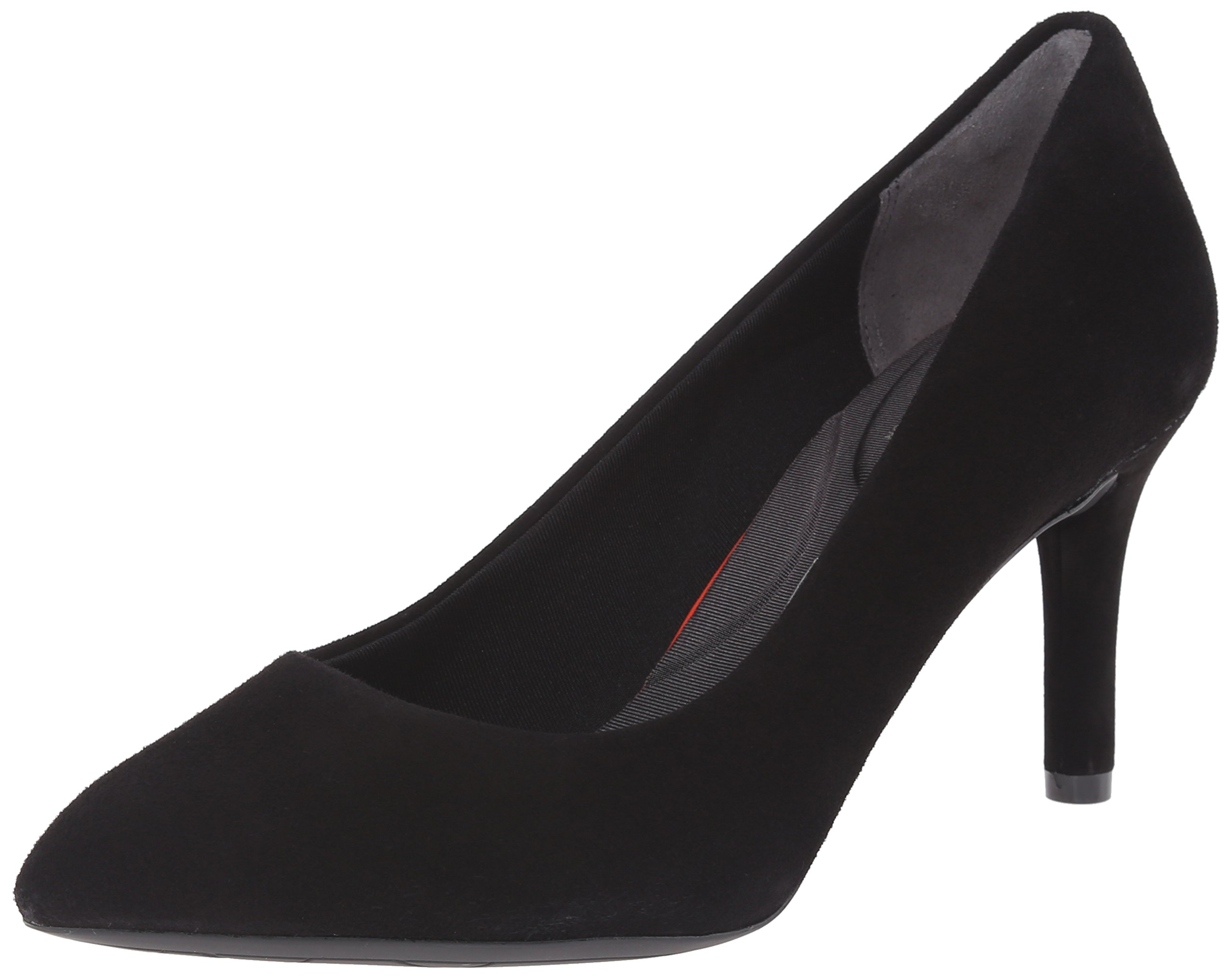 Rockport Women's Total Motion 75mm Pointy Toe Pump Black Kid Suede 8.5 W (C)