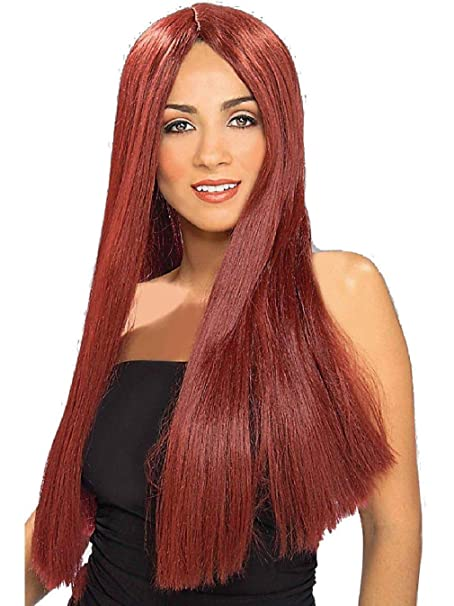 Adult Womens Costume Long Burgundy Straight Vampire Hippie Wig  Amazon.ca   Clothing   Accessories 84468f5e6c