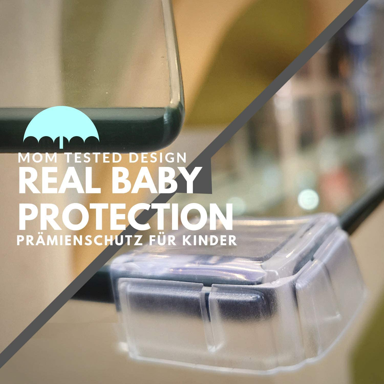 Transparente Suave Portectores de Seguridad para ni/ño Innobeta 20pcs Protector Esquinas Bebes para Esquinas y Bordes de Muebles Seguridad Infantil en el Hogar