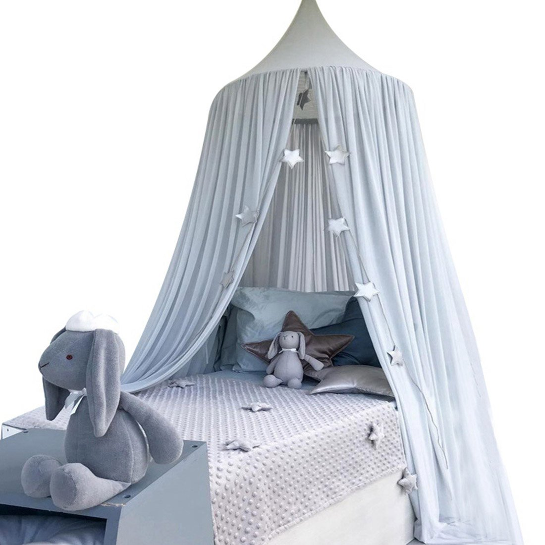 Enerhu Bed Canopy Mosquito Net Insect Netting Protection Indoor Kids Bedroom Baby Crib White