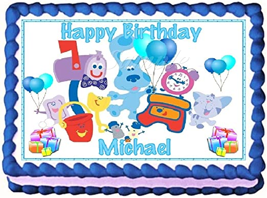 Tremendous Blues Clues White Edible Frosting Sheet Cake Topper 1 4 Sheet By Personalised Birthday Cards Fashionlily Jamesorg