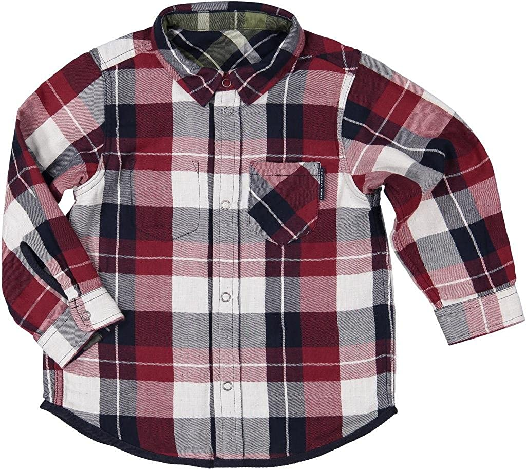 Polarn O. Pyret Reversible Fall Check Button Down (Baby)