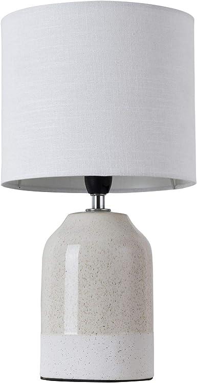 weiß für LED-Lampe bis 25W Nachttisch-//Schreibtischleuchte E14 Höhe 33cm