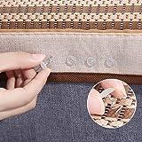 Akstore 100 Pcs Bed Skirt Pins Clear Heads Twist