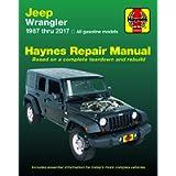 Jeep Wrangler 4-cyl & 6-cyl, 2WD & 4WD (1987-2017) Haynes Repair Manual (USA)