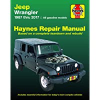 Jeep Wrangler 4-cyl & 6-cyl Gas Engine, 2WD & 4WD Models (87-17) Haynes Repair Manual (Does not include info specific to diesel engine models. ... specific exclusion noted) (Haynes Automotive)