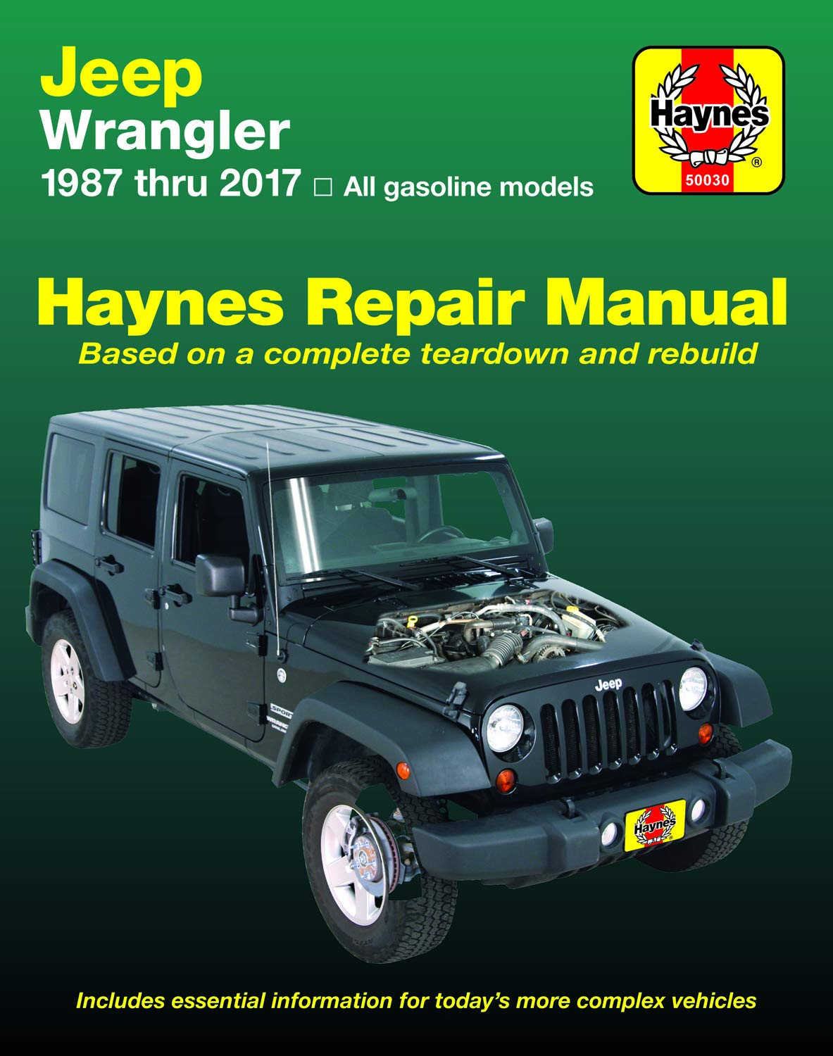 Jeep Wrangler 4-cyl & 6-cyl Gas Engine, 2WD & 4WD Models (87-17) Haynes Repair Manual (Does not include info specific to diesel engine models. ... specific exclusion noted) (Haynes Automotive) by Haynes Manuals N. America, Inc.