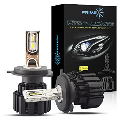 Amazon.com: PrimeLED XtremeBrite LED Headlight Bulbs H4 (9003 HB2) - 100w 13600Lm - 6K Cool White - 2 Yr Warranty (9003): Automotive