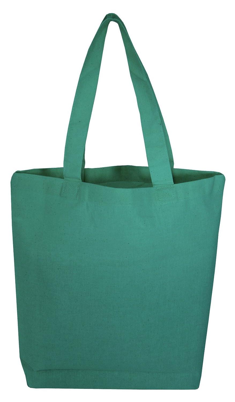 再使用可能空白トートバッグDIY、アート&クラフト、装飾品のセット24 B01NAM5RWQ ケリーグリーン ケリーグリーン