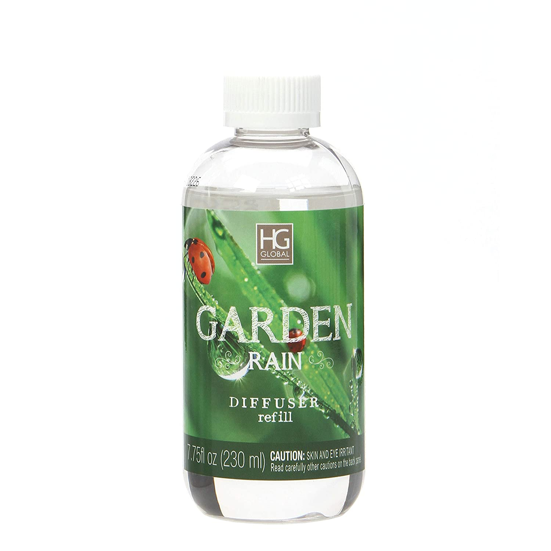 アロマセラピーHosleyプレミアムGarden Rain Scented Reed Diffuser Refillsオイル、230 ml ( 7.75 FL OZ ) Made in USA。Bulk Buy。理想的なギフトや結婚式、Spa ,レイキ,瞑想設定 B075RDS47H