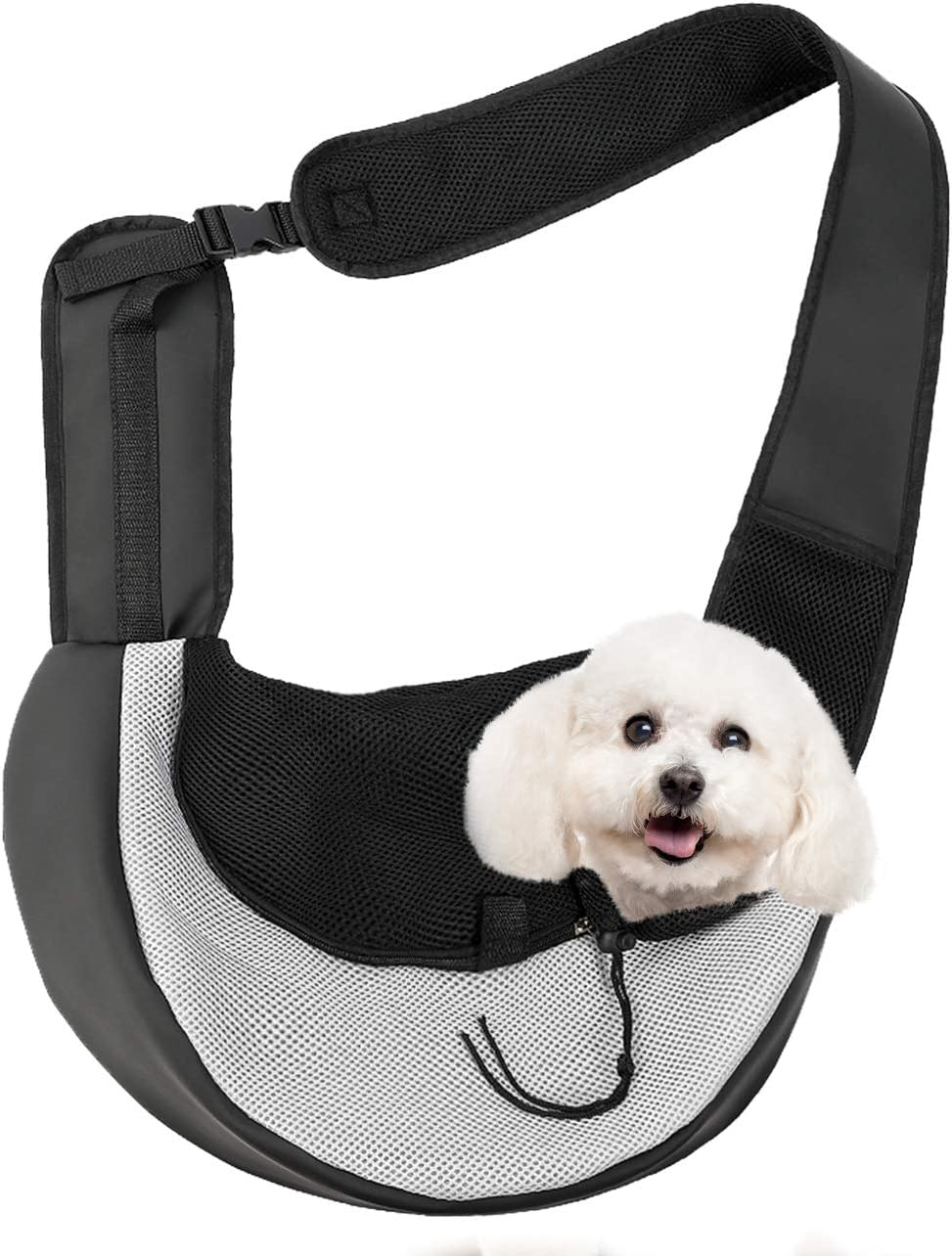 Zero Zoo Pet Dog Carrier Slings Breathable Mesh Travelling Pet Hands, Zipper Anti-Pinch Hair Design, Adjustable Padded Strap Tote Dog and Cat Carrier Bag : Pet Supplies