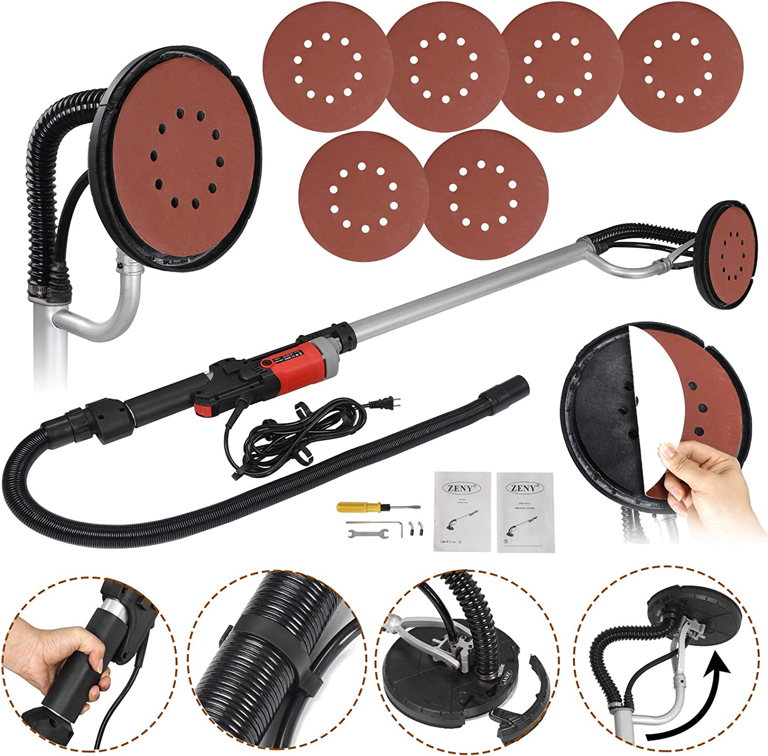 9. ZENY 800W Electric Drywall Sander