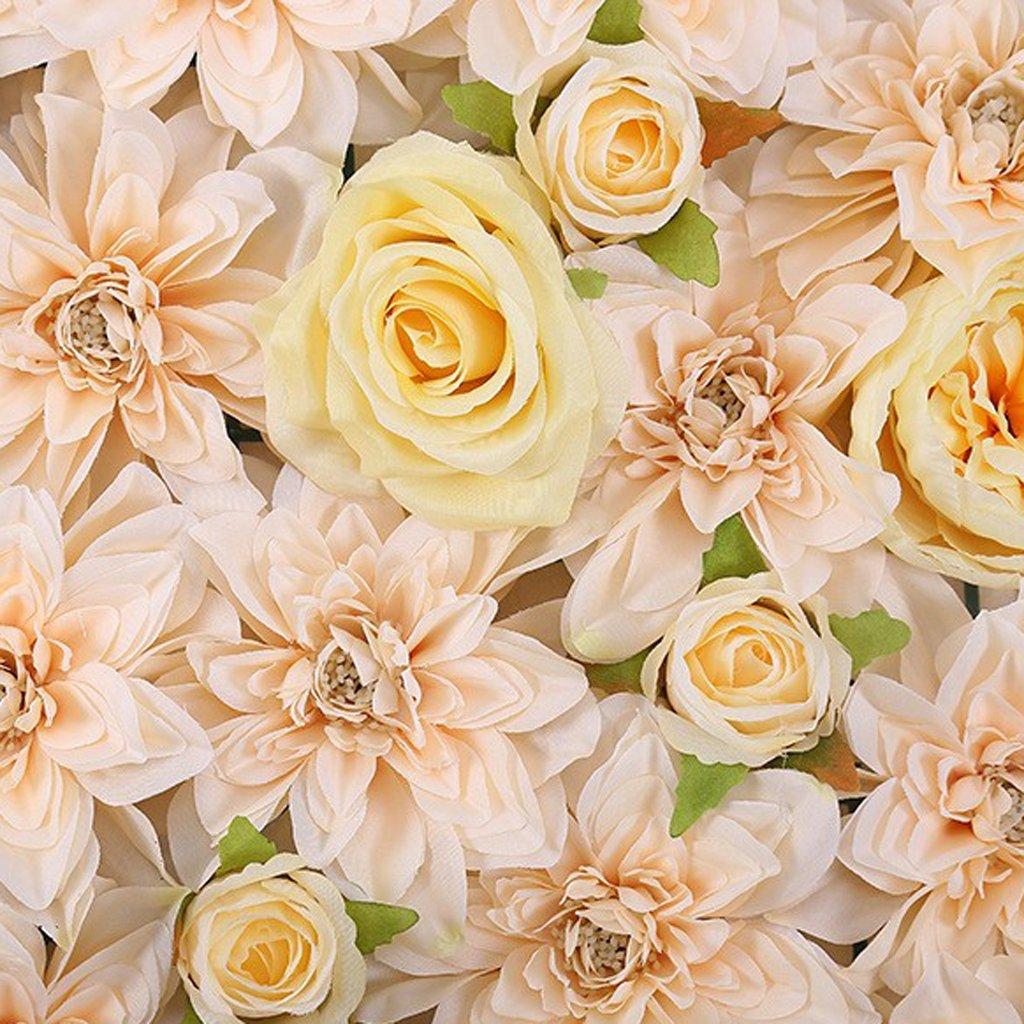 Magideal Panneau De Mur Fleur Artificielle Support Maison Fete