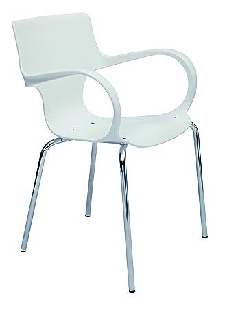 ALBA - Lot de 4 Ergonomische Stühle, stapelbar und pflegeleicht ...