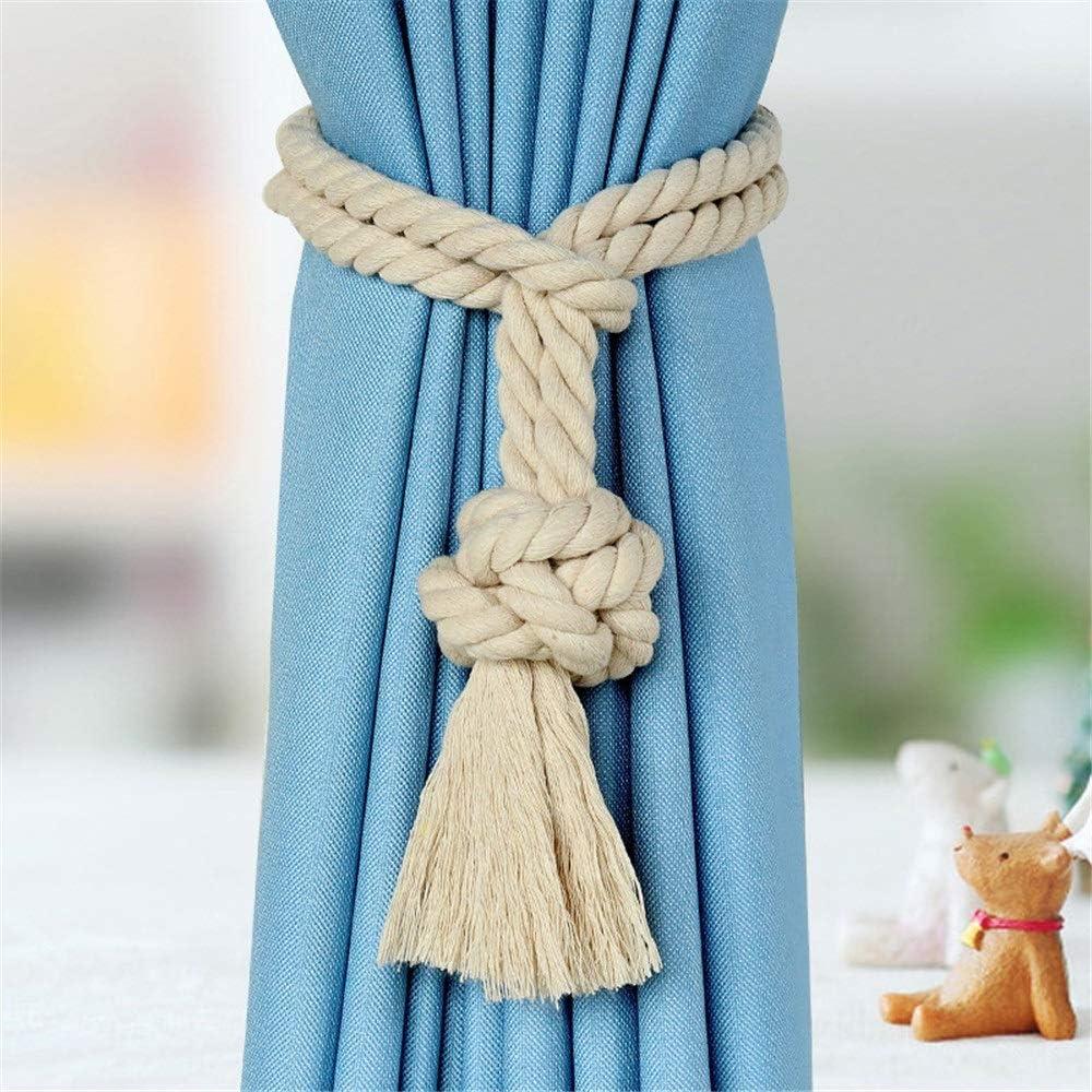 Abrazaderas Para Cortinas 1 par de tejer a mano cortina de cortina ...