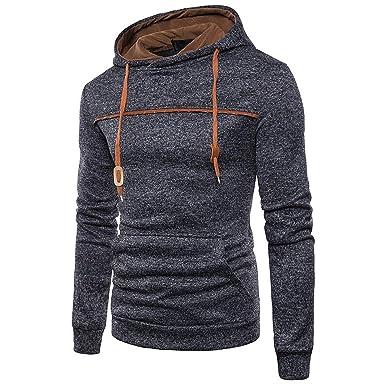cac6479f3 Amazon.com: NanGate Hoodies Men Hip Hop Streetwear Male Solid Color ...
