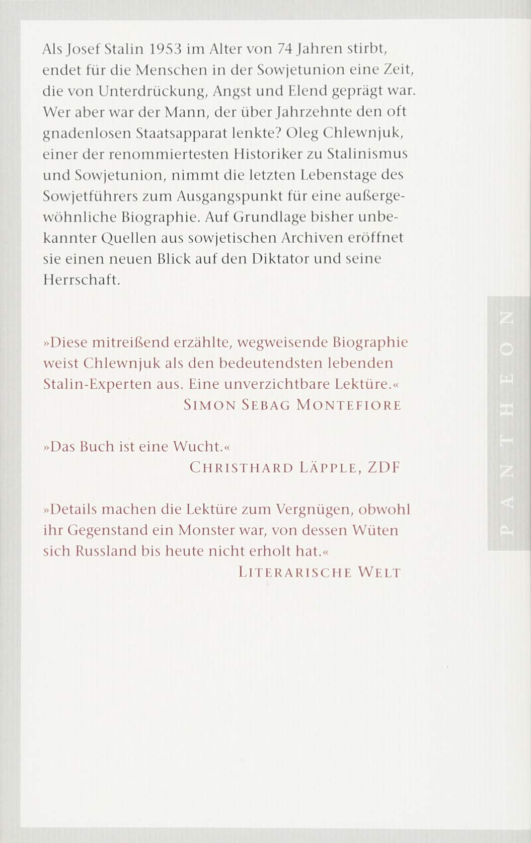 Stalin Eine Biographie Amazon Oleg Chlewnjuk Helmut Dierlamm