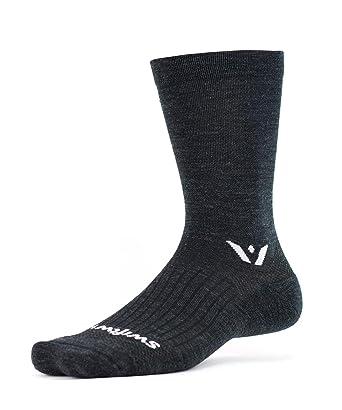 b4654e8251 Swiftwick – Socks for Hiking & Cycling, PURSUIT SEVEN | Moisture Wicking  Merino Wool,