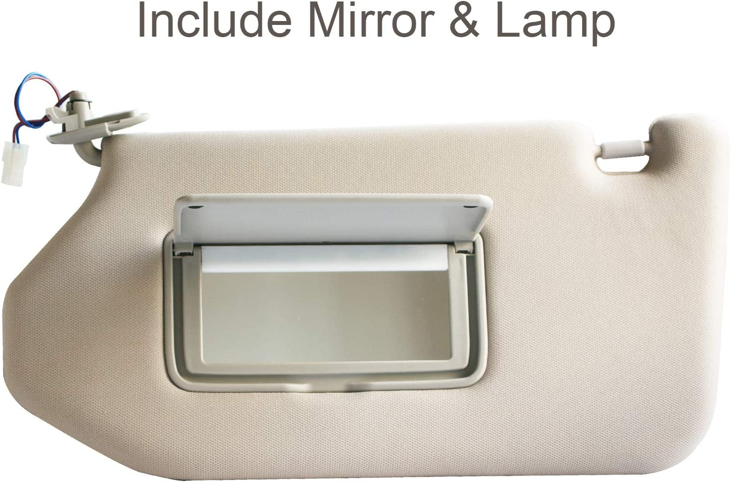 R Darwenxy Right Passenger Side Light TAN Sun Visor with Mirror/&Lamp for 2013-2018 Pathfinder 2014-2017 Infiniti QX60 JX35 Replaces Part #964009PB0A