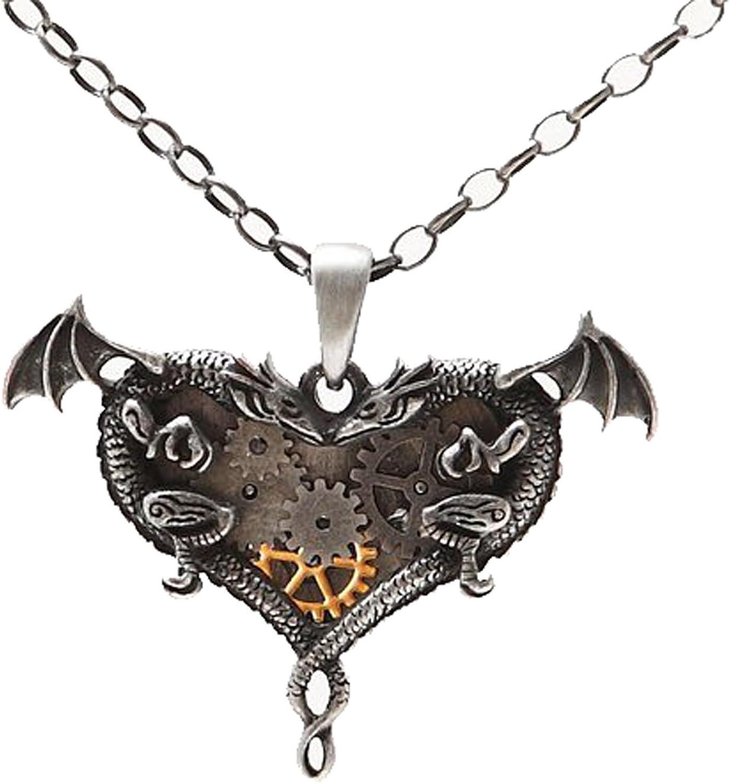 Vintage Steampunk Gear Bat Pendant Chain Necklace Victorian Jewelry Gift