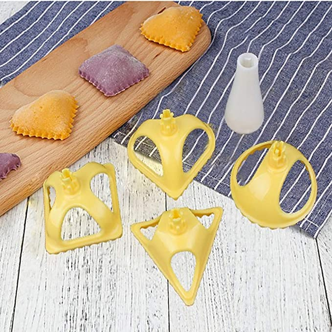 Amazon.com: Gessppo 4pcs Plastic Dumpling Molds 4 Shapes Dumpling Press Tool Cooking Pastry Mold Cookie Mould Biscuits Sugar Mold: Home & Kitchen