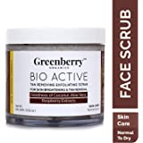 Greenberry Organics Bio Active Tan Removing Exfoliating Scrub for Skin Brightening & Tan Removal 100 GMS