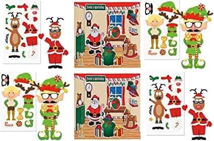 Amazon.com: Juego de 36 hojas de pegatinas de Navidad para ...