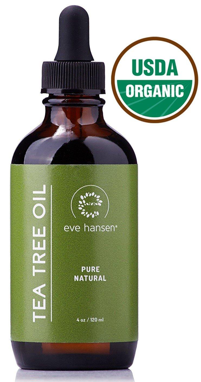 USDA Certified Organic Tea Tree Oil - Pure Tea Tree Essential Oil - Use as a Natural Antiseptic Wash, Dandruff and Lice Treatment, Acne Treatment, nail Fungus Treatment