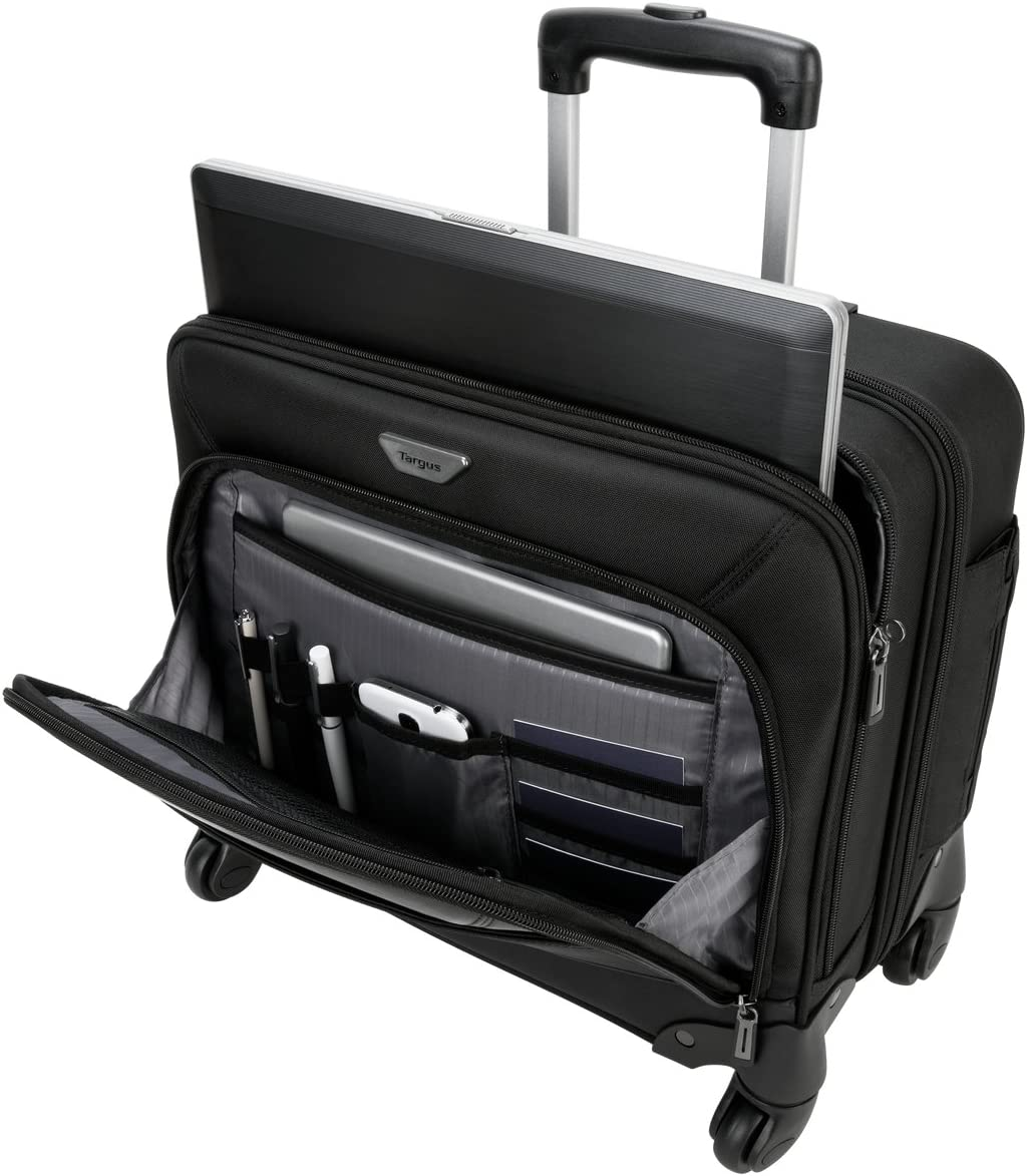 Targus Mobile ViP 4-Wheeled Business and Overnight Rolling Case for 15.6-Inch Laptops, Black (TBR022)