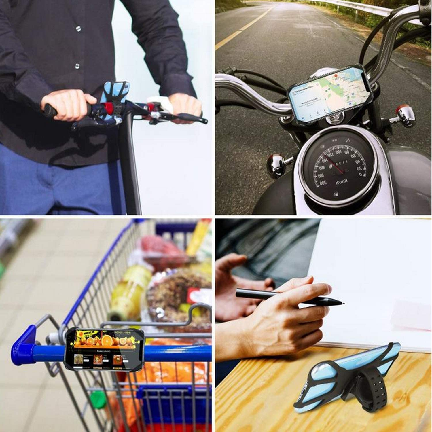 Samsung S10//S10e Bicycle Phone Mount LG Nubia 360/° Adjustable Universal Motorcycle Phone Mount Silicone Handlebar Cradle for iPhone 11 Pro Max//X//XS MAX//XR//8//8 Plus Google Pixel