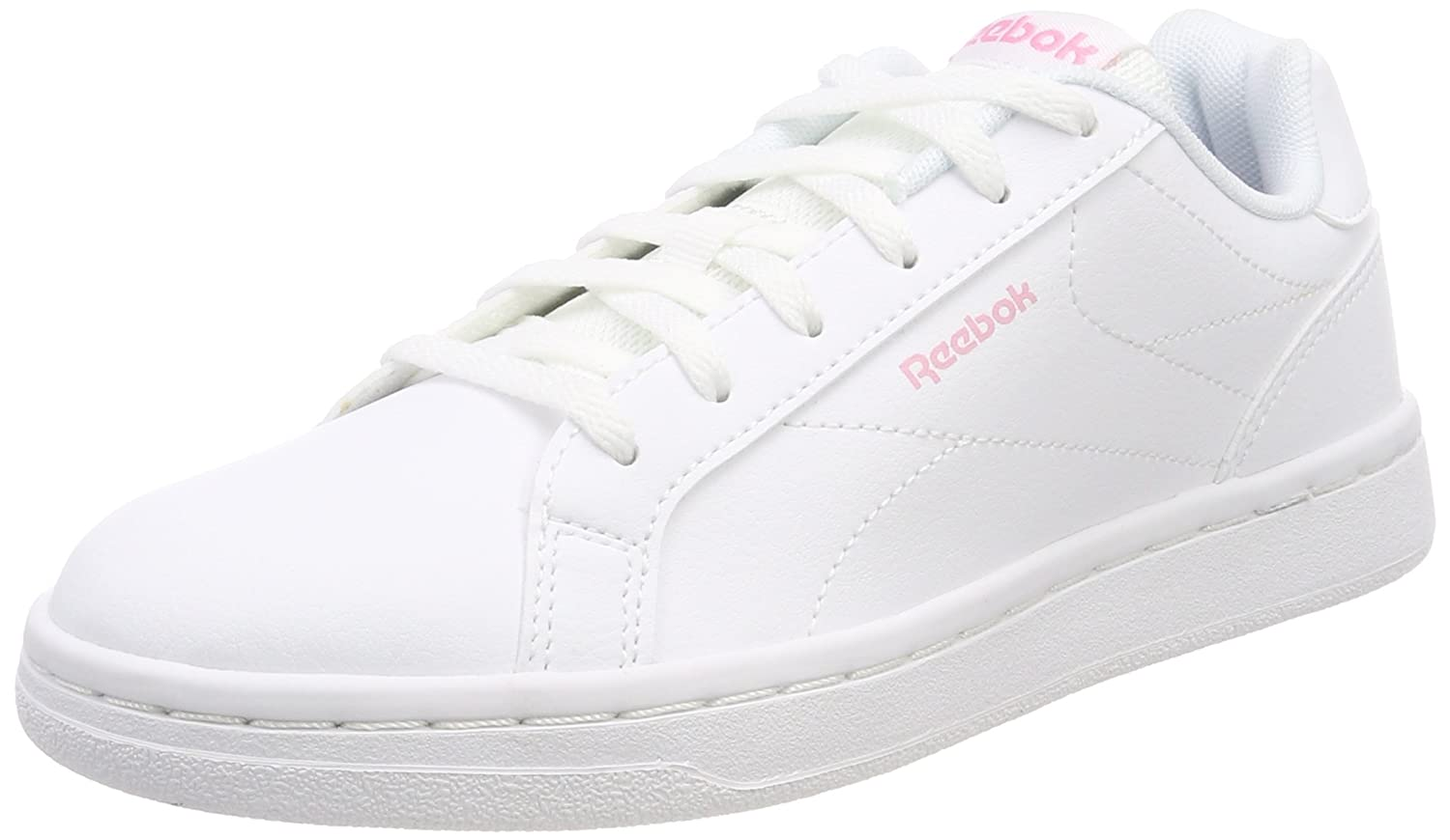 d27c9137fd2a Reebok Women s Royal Complete CLN Gymnastics Shoes White (White Light Pink  White Light Pink) 8.5 UK  Buy Online at Low Prices in India - Amazon.in