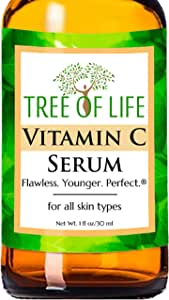 Vitamin C Serum For Face - Anti Aging Anti Wrinkle Facial Serum With Many Natural And Organic Ingredients - Paraben Free, Vegan - Best Vitamin C Serum For Skin - 1 Fl Oz