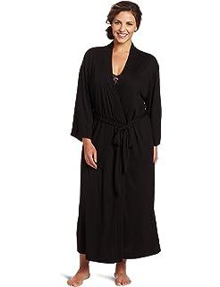 5eb84384ca Artiwa Unisex Lightweight Silk Kimono Bathrobe for Women   Men Rose ...