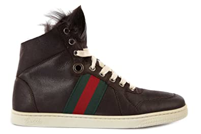 Gucci Zapatos Zapatillas de Deporte largas Mujer en Piel marrón EU 37.5 270082BRJ102178: Amazon.es: Zapatos y complementos