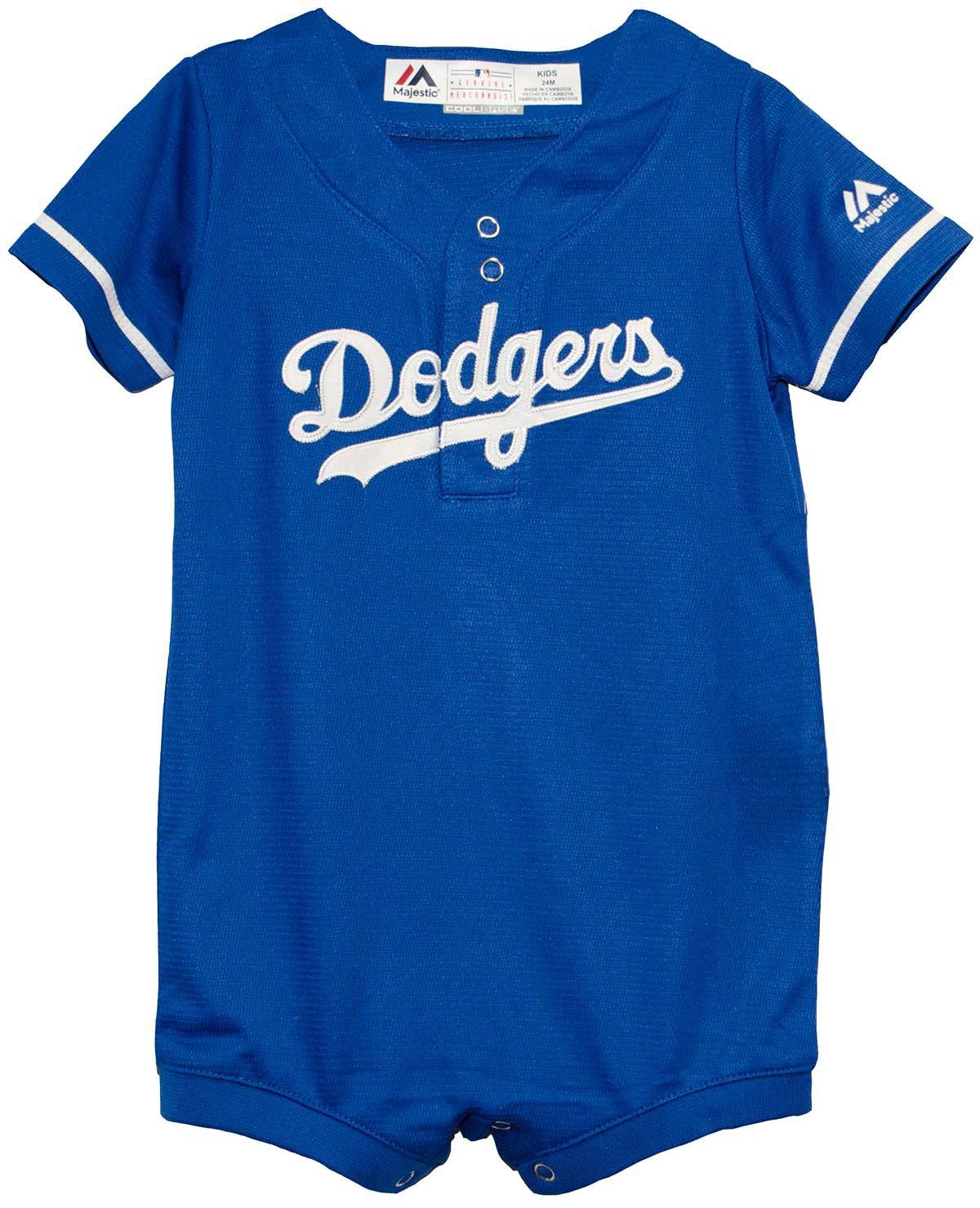 719ca3854 Majestic Los Angeles Dodgers Blue Alternate Cool Base Romper Jersey  Outerstuff
