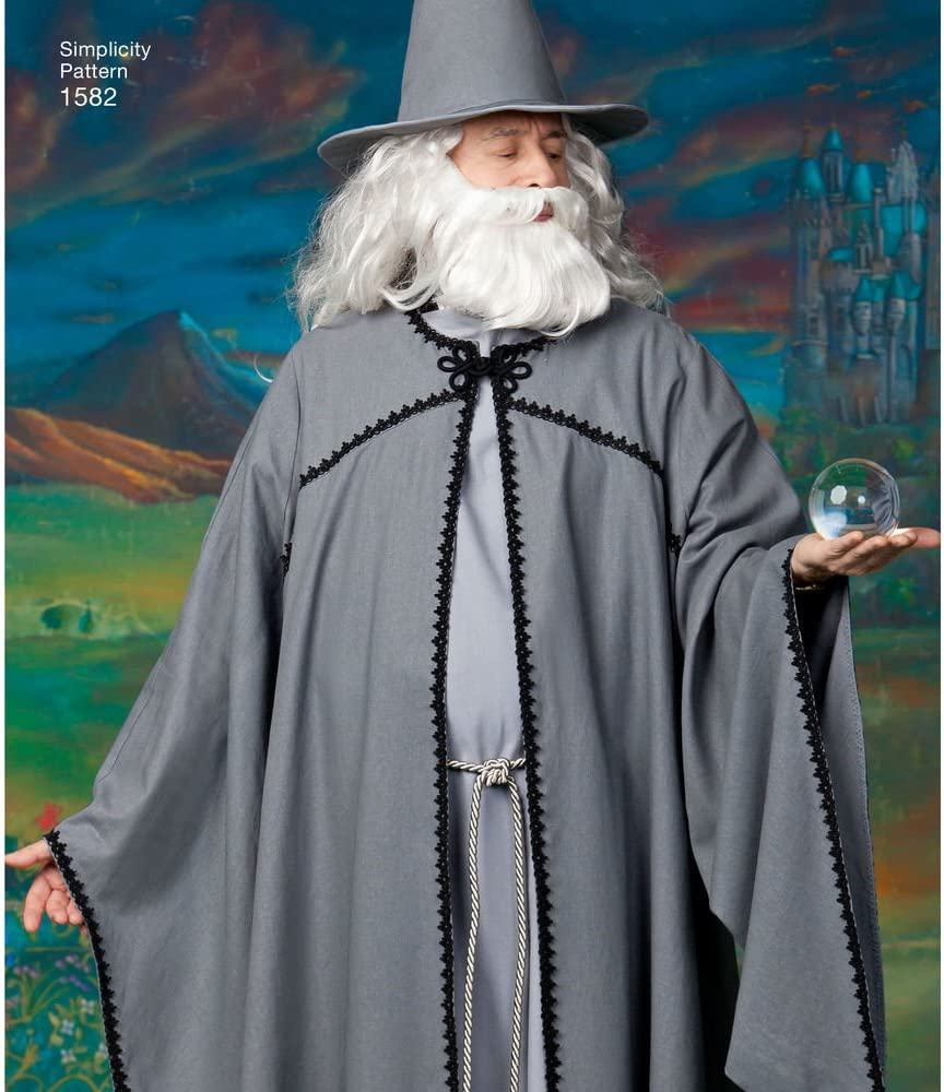 and Womens Hooded Cape Costume Sewing Patterns Simplicity 1582 Teens Mens Sizes XS-XL