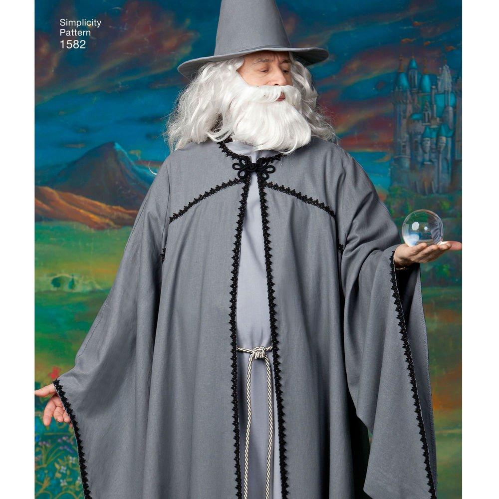 Simplicity US1582.A cartamodello per mantello con cappuccio per adulti e ragazzi.