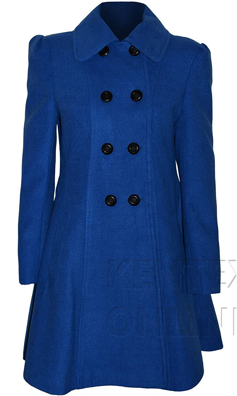 Vicky Smith London Women's Long Fit & Flare Coat with Lining Uk Sizing