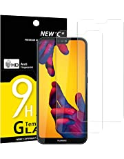 NEW'C Verre Trempé pour Huawei P20 Lite,[Pack de 2] Film Protection écran - Anti Rayures - sans Bulles d'air -Ultra Résistant (0,33mm HD Ultra Transparent) Dureté 9H Glass