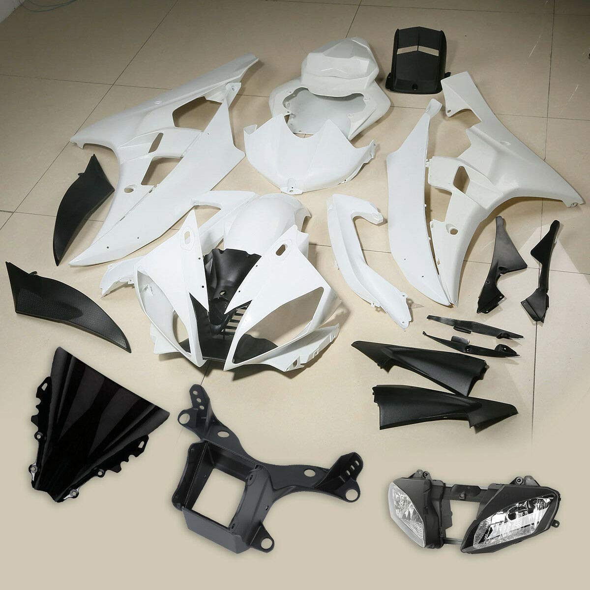 TCMT ABS Unpainted Fairing Kit Headlight Front Bracket Fit For ...
