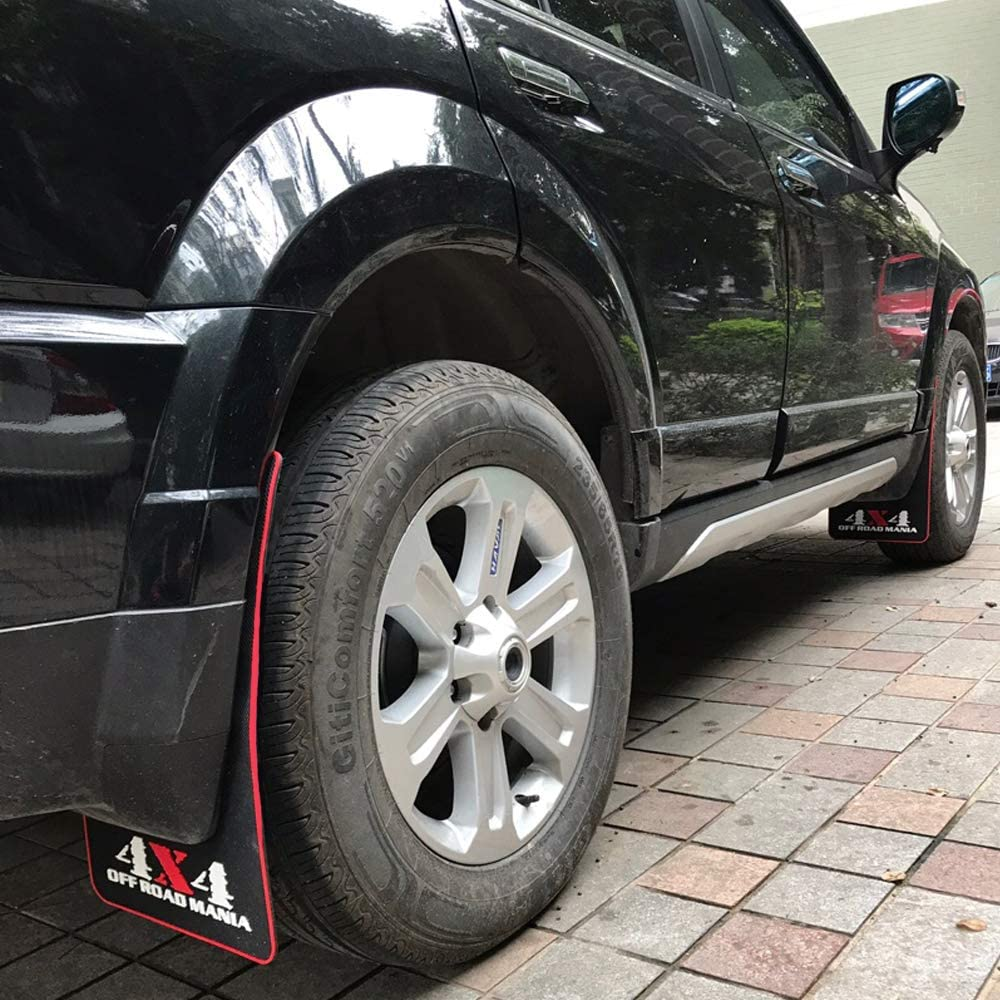 Sports LLJSTAT Mania Car Mud Flaps Universal Fit Black Splash Guards Rubber mud Guard Universal Pickup SUV Mudguard Mud Flaps Rubber No Collision Universal Pickup SUV 50CM30CM0.5CM