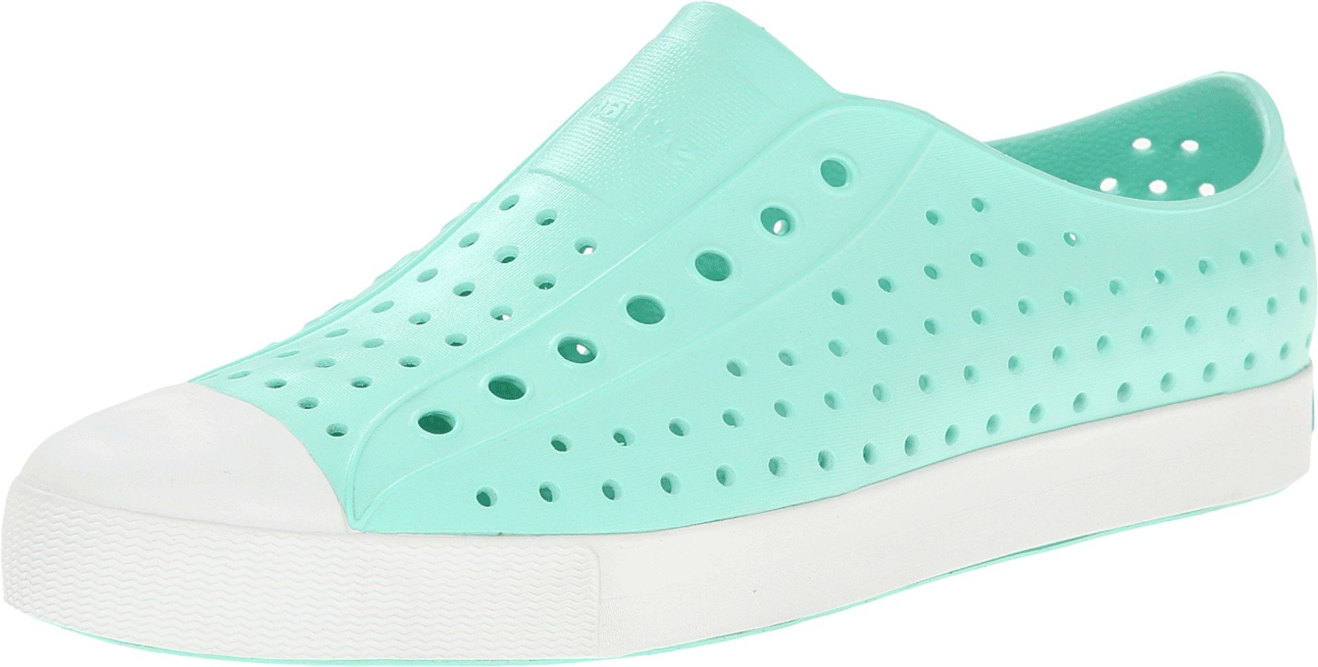 native Unisex Jefferson Fashion Sneaker, Glass Green/Shell White,11 US Men/13 US Women